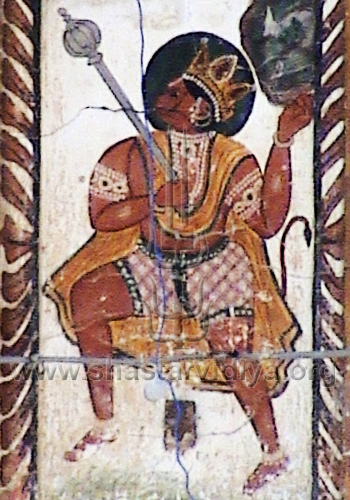 Hanuman, fresco, Dehradun, India
