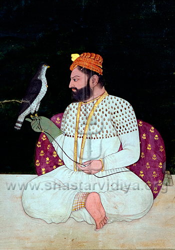 Guru Hargobind - one of the earliest known images and truest likeness of the Guru, Bhai Rupa collection, Punjab