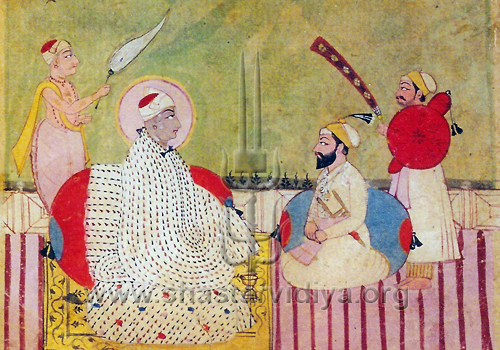 Baba Sri Chand, master yogi, and son of Guru Nanak, mid 19th century, Punjab